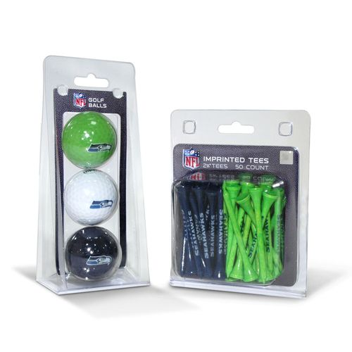 Team Golf Seattle Seahawks Golf Balls and Tees Set