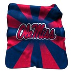 Logo™ University of Mississippi Raschel Throw - view number 1