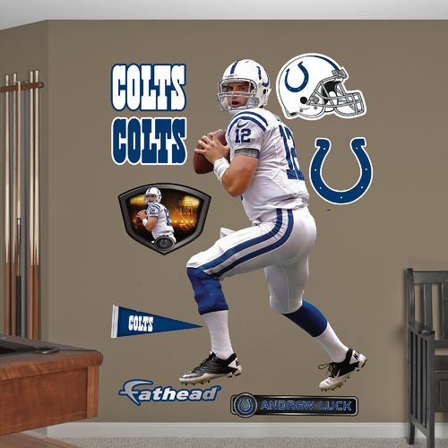 Fathead Indianapolis Colts Andrew Luck Away Real Big Wall Decal