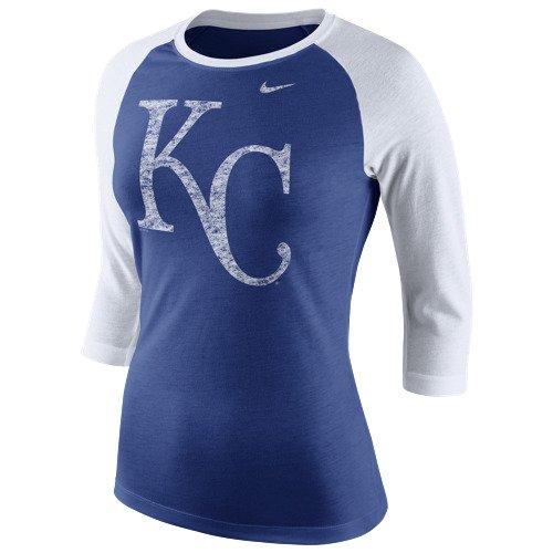 Nike Women's Kansas City Royals Logo Raglan T-shirt