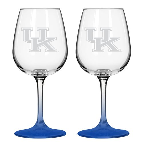 Boelter Brands University of Kentucky 12 oz. Wine Glasses 2-Pack
