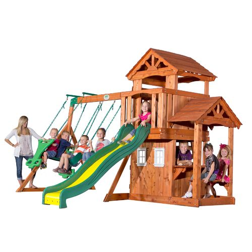 Backyard Discovery™ Tanglewood Wooden Swing Set   View Number 1 ...