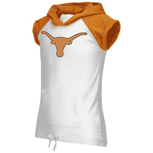 Colosseum Athletics Girls' University of Texas Jewel Short Sleeve Hoodie