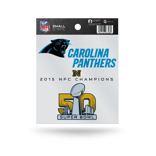 Rico Carolina Panthers NFC Championship Small Static Cling