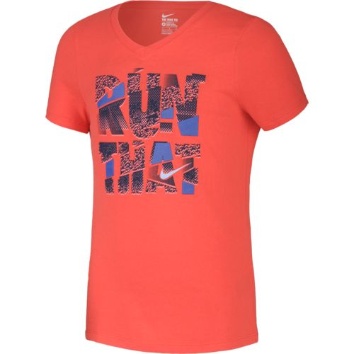 Nike Girls' Run That Short Sleeve T-shirt