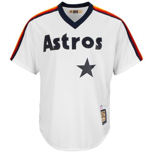 Majestic Men's Houston Astros Joe Morgan #18 Cooperstown Cool Base 1986 Replica Jersey - view number 1