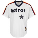 Majestic Men's Houston Astros Joe Morgan #18 Cooperstown Cool Base 1986 Replica Jersey