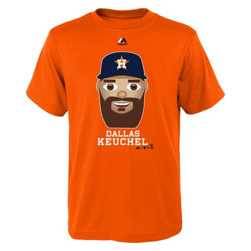 Majestic Boys' Houston Astros Dallas Keuchel Emoji T-shirt