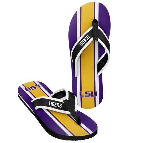 Forever Collectibles™ Men's Louisiana State University 2016 Contour Stripe Flip-Flops