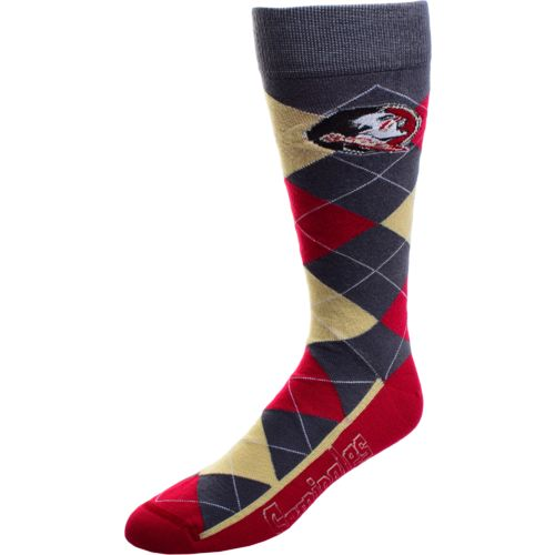 FBF Originals Men's Florida State University Argyle Zoom Dress Socks