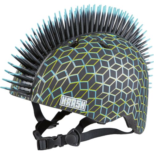 Krash Techno Geo Mohawk Youth Bike Helmet