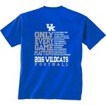 New World Graphics Men's University of Kentucky Schedule T-shirt