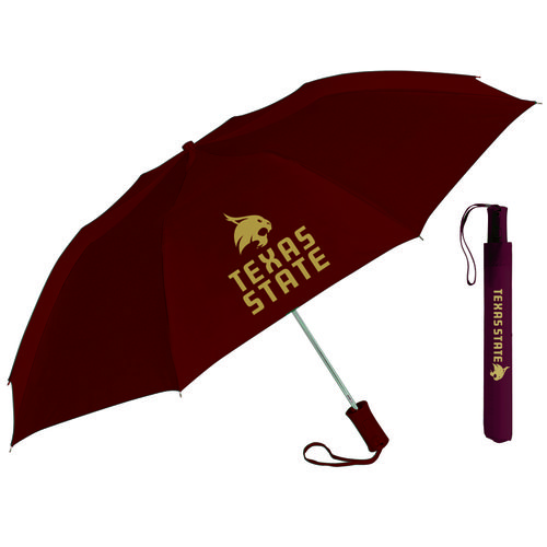 "Storm Duds Adults' Texas State University 42"" Automatic Folding Umbrella"