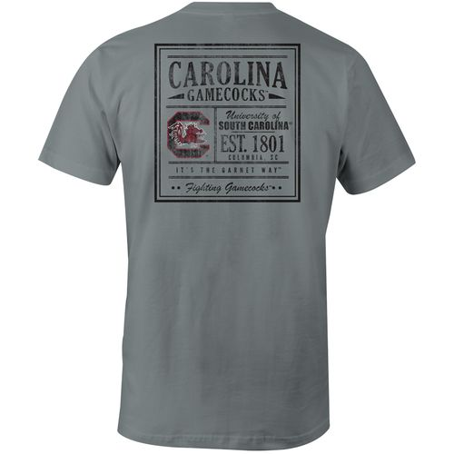 Image One Men's University of South Carolina Comfort Color Vintage Poster Short Sleeve T-shirt
