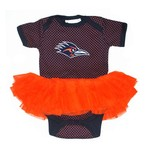 Two Feet Ahead Infant Girls' University of Texas at San Antonio Pin Dot Tutu Creeper