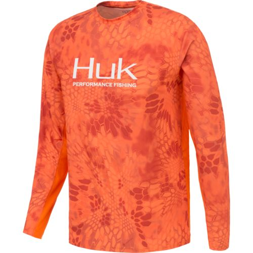 Huk Men's Kryptek Solid Long Sleeve Icon T-shirt - view number 1