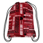 Forever Collectibles™ Women's University of Arkansas Drawstring Backpack