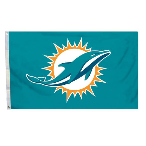 BSI Miami Dolphins 3' x 5' Fan Flag