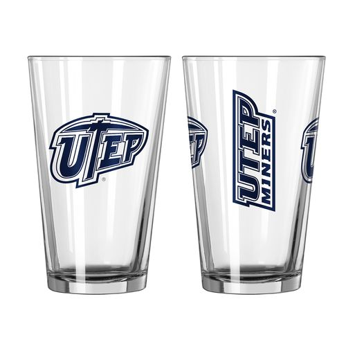 Boelter Brands University of Texas at El Paso Game Day 16 oz. Pint Glasses 2-Pack