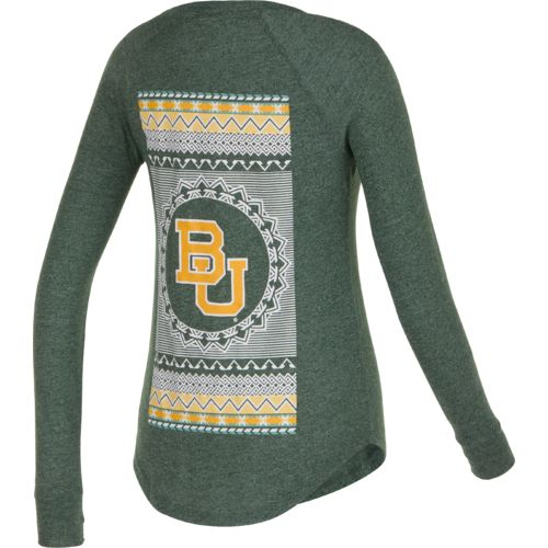 Chicka-d Women's Baylor University Favorite V-neck Long Sleeve T-shirt