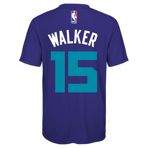 adidas™ Boys' Charlotte Hornets Kemba Walker #15 Flat Player T-shirt