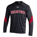 Under Armour™ Boys' Texas Tech University Long Sleeve Microstripe T-shirt