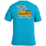 Image One Women's University of Missouri Pattern Scroll State T-shirt - view number 1