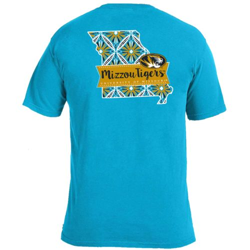 Image One Women's University of Missouri Pattern Scroll State T-shirt
