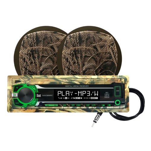 "Display product reviews for Dual Realtree 240W Marine Mechless Receiver with Two 6.5"" Dual Cone Speakers"