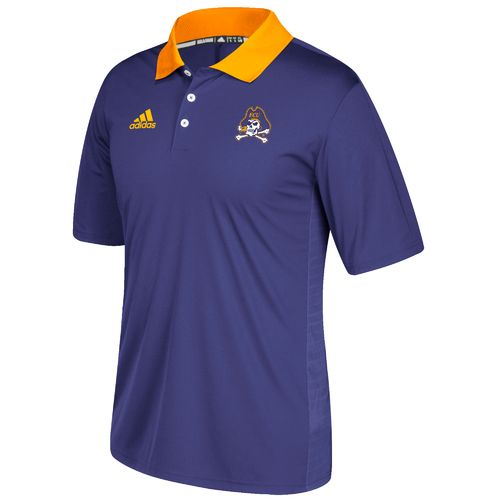 adidas Men's East Carolina University Sideline Coaches Polo Shirt
