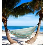 Twisted Root Design Teal Tribal Hammock - view number 3