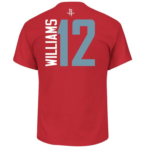 Majestic Men's Houston Rockets Louis Williams 12 Vertical Name and Number T-shirt