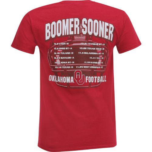 New World Graphics Men's University of Oklahoma Football Schedule '17 T-shirt