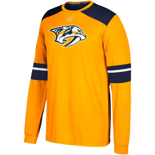 adidas Men's Nashville Predators Long Sleeve Jersey T-shirt