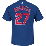 Majestic Men's Chicago Cubs Addison Russell 27 Name and Number T-shirt - view number 1
