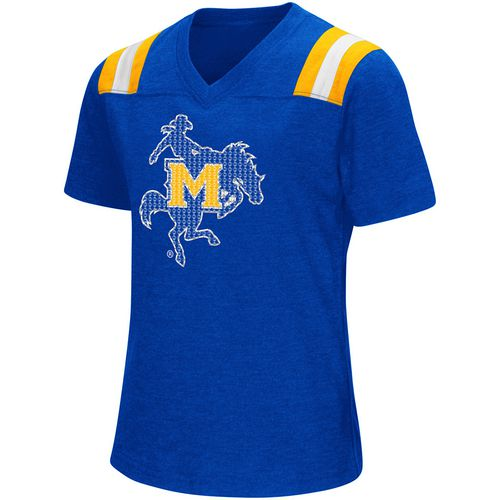 Colosseum Athletics Girls' McNeese State University Rugby Short Sleeve T-shirt