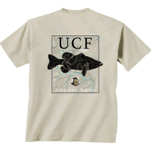 New World Graphics Men's University of Central Florida Angler Topo Short Sleeve T-shirt