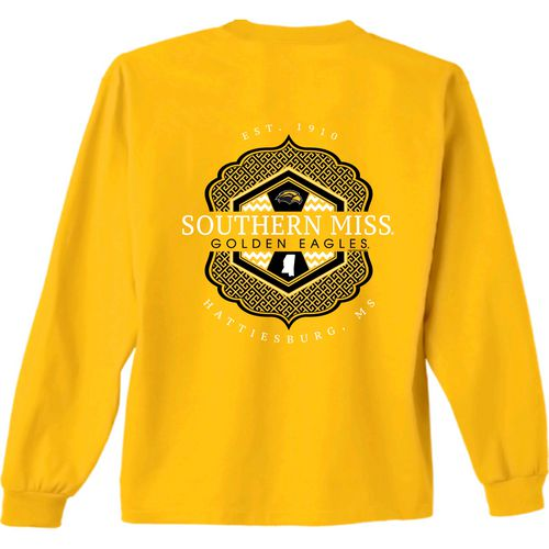 New World Graphics Women's University of Southern Mississippi Faux Pocket Long Sleeve T-shirt