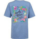 New World Graphics Women's University of North Texas Comfort Color Circle Flowers T-shirt - view number 1