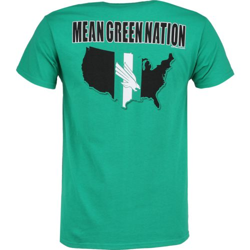 New World Graphics Men's University of North Texas Stripe Nation T-shirt - view number 1