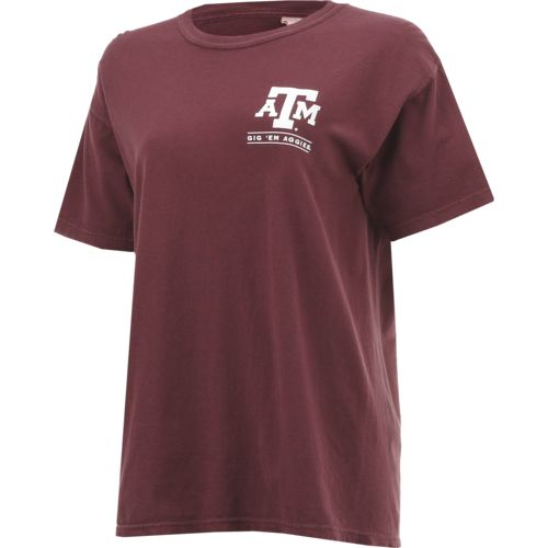 New World Graphics Women's Texas A&M University Comfort Color Puff Arch T-shirt - view number 3
