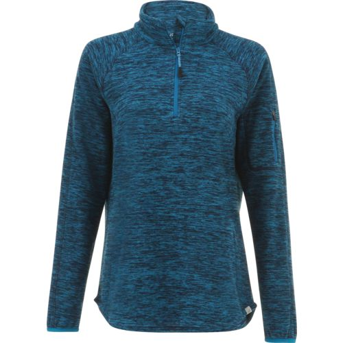 BCG Women's Heathered Micro Fleece 1/4 Zip Pullover