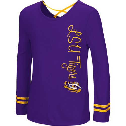 Colosseum Athletics Girls' Louisiana State University Marks the Spot Strappy Back Long Sleeve T-shir