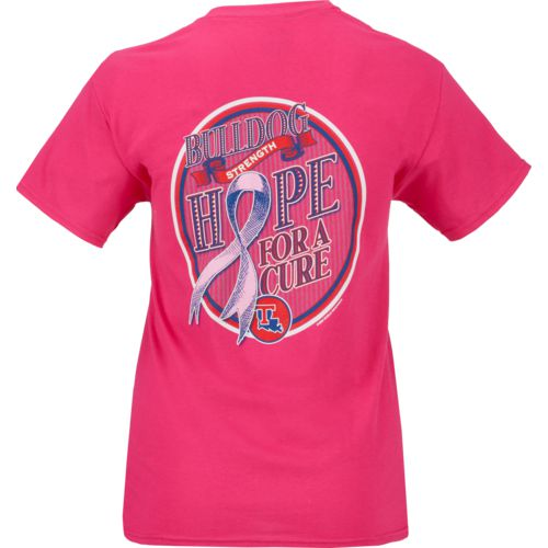 New World Graphics Women's Louisiana State University Breast Cancer Hope T-shirt