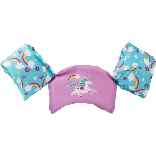 Display product reviews for SwimWays Kids' Sea Squirts Swim Trainer Unicorn Life Jacket