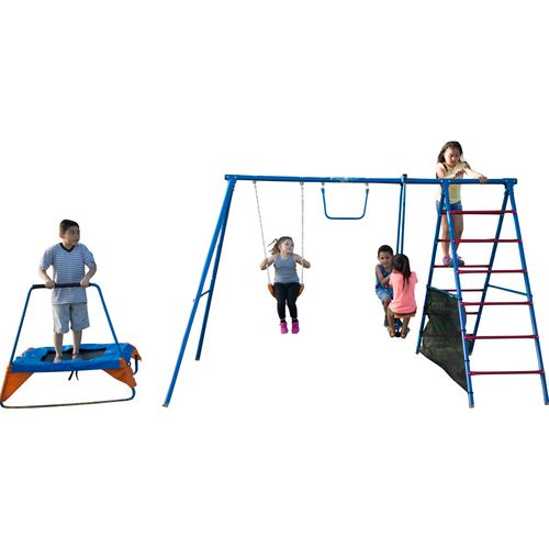 Fitness Reality Fun Series Metal Swing Set