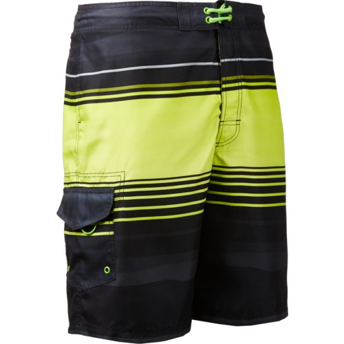 O'Rageous Men's Wave Stripe Printed True Boardshorts