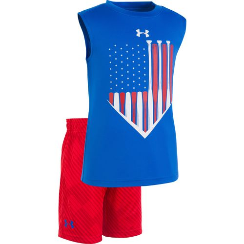 Under Armour Boys' Baseball Americana Tank Top and Shorts Set