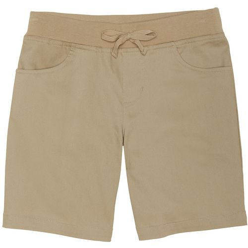 French Toast Girls' Stretch Pull-On Tie-Front Shorts
