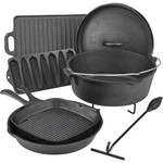 Outdoor Gourmet Cast-Iron Cookware Set in a Box - view number 1